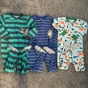 Carter's Boys Fleece Footed Pjs - Size 5T